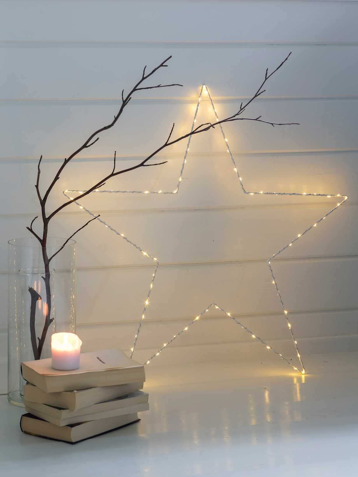 Nordic House LED Silhouette Star - XL