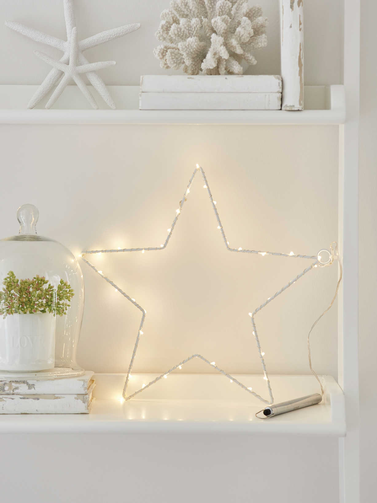 Nordic House LED Silhouette Star
