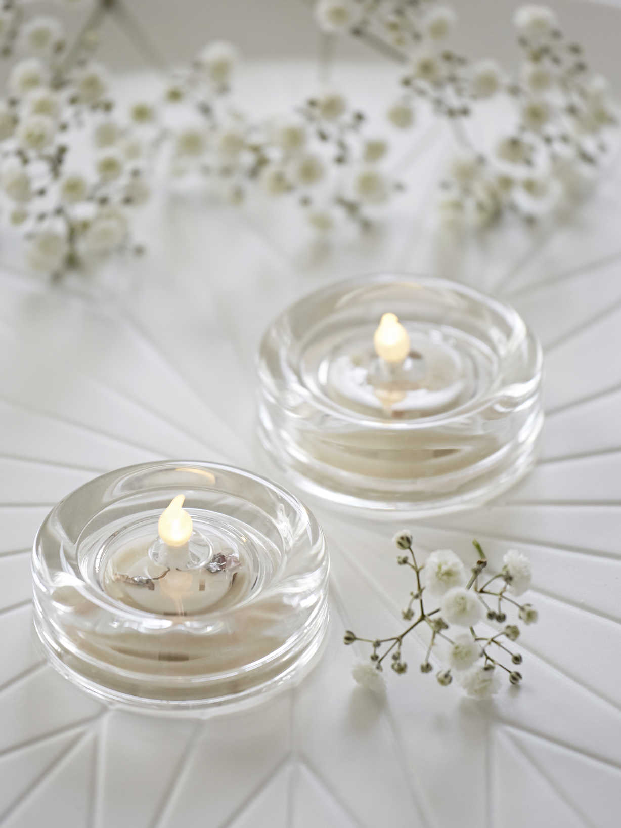 Nordic House Glass LED Tealight Set