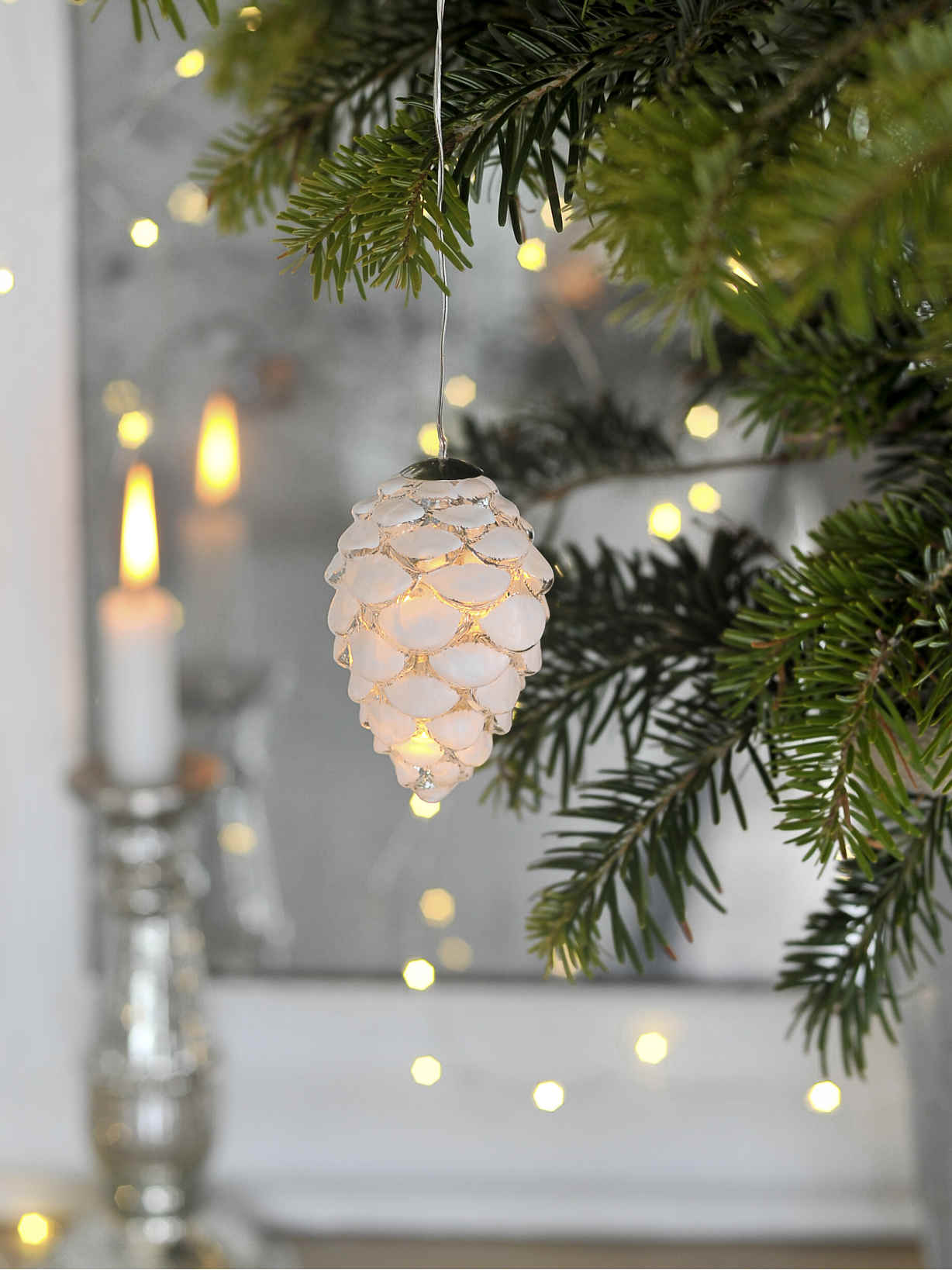 Nordic House Glass LED Pine Cone