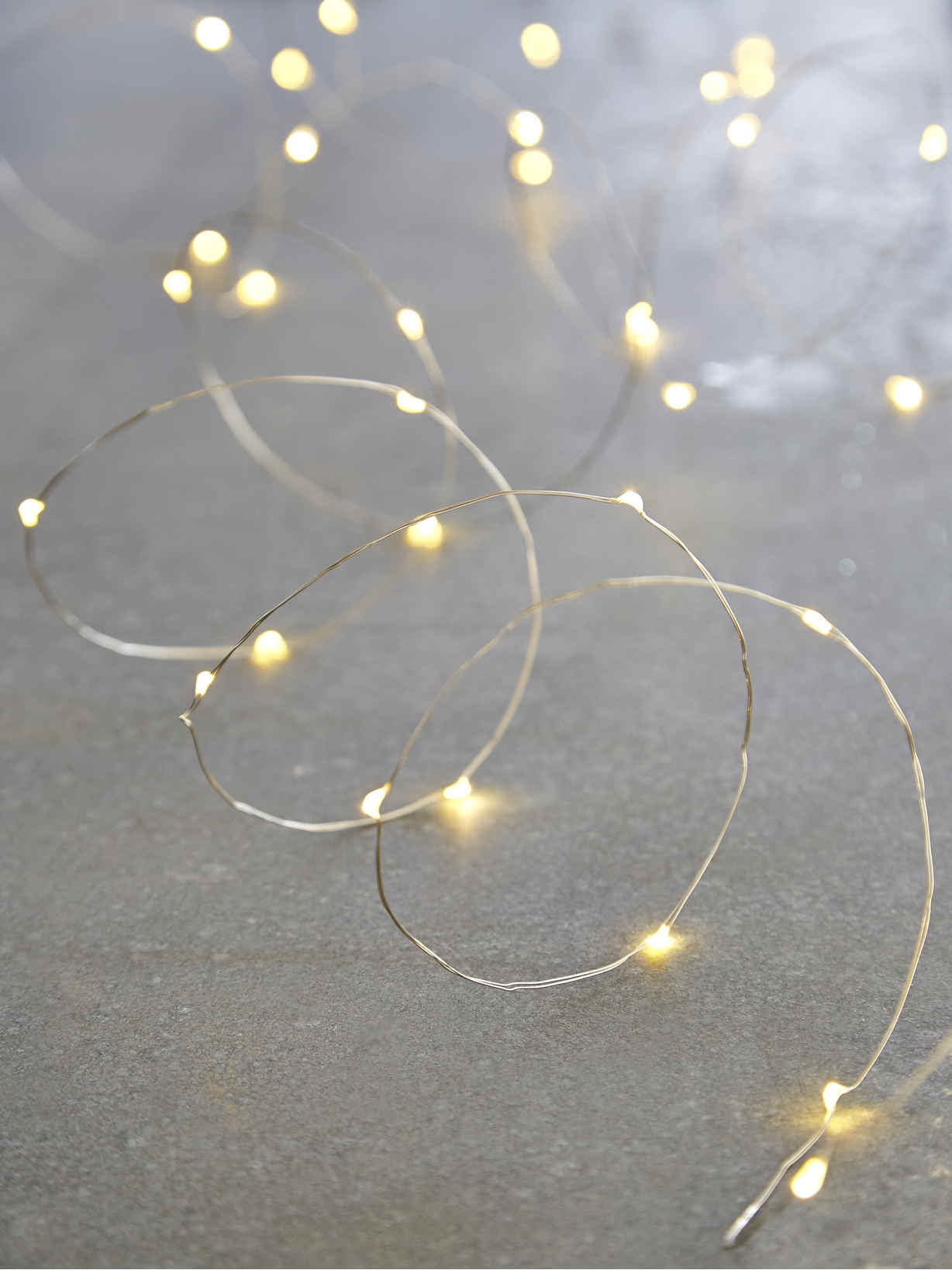 Nordic House Silver Wire LED Lights