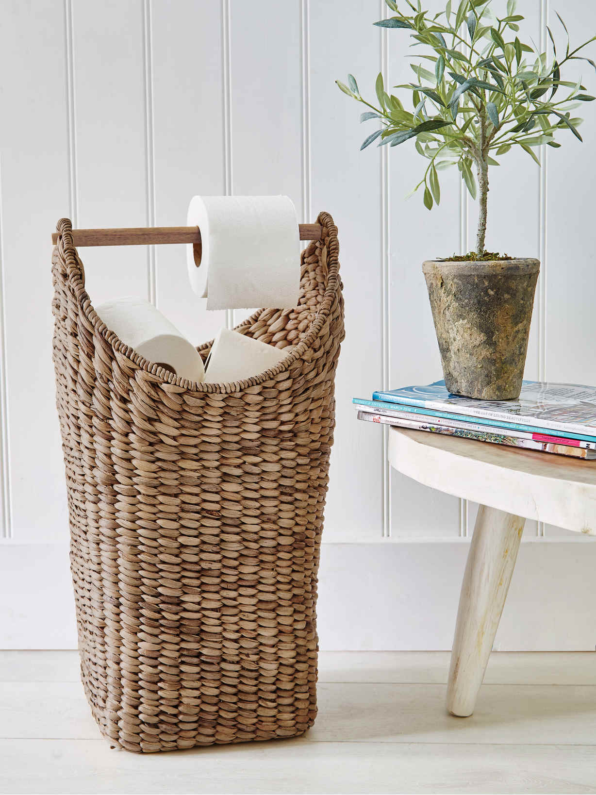 Nordic House Hand Woven Toilet Roll Holder