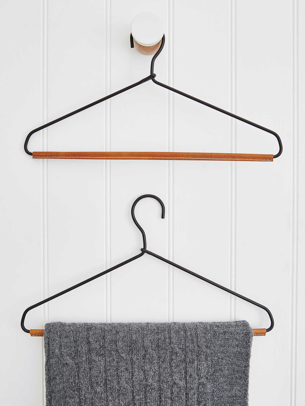 Nordic House Leather & Metal Hanger