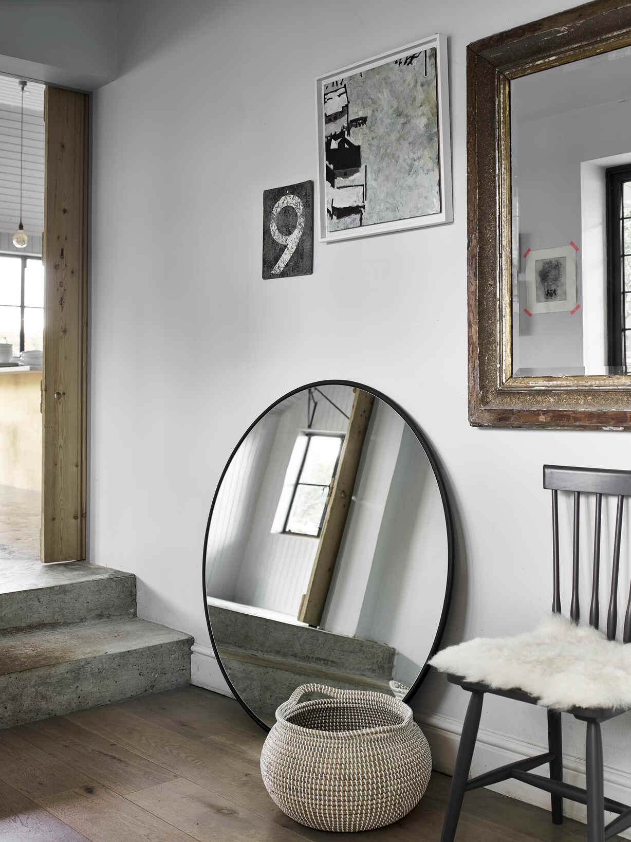 Nordic House Skive Round Wall Mirror