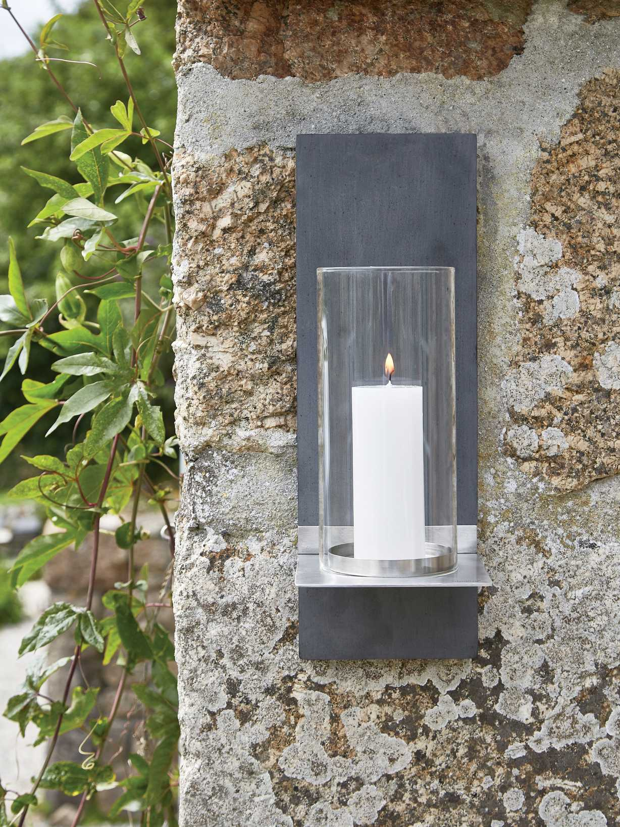 Nordic House Outdoor Wall Candle Sconce