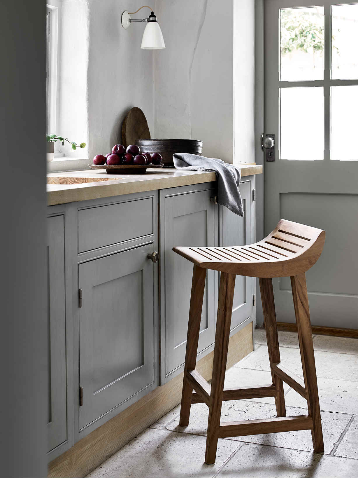 Nordic House Curved Kitchen Stool