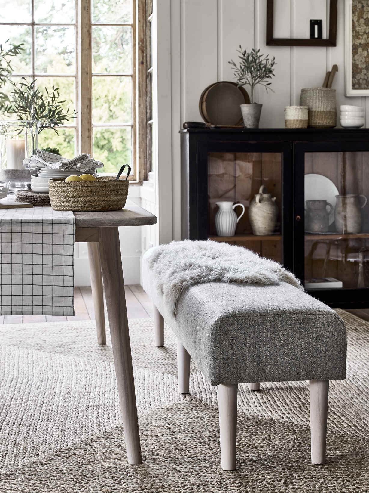 Nordic House Sundby Upholstered Bench