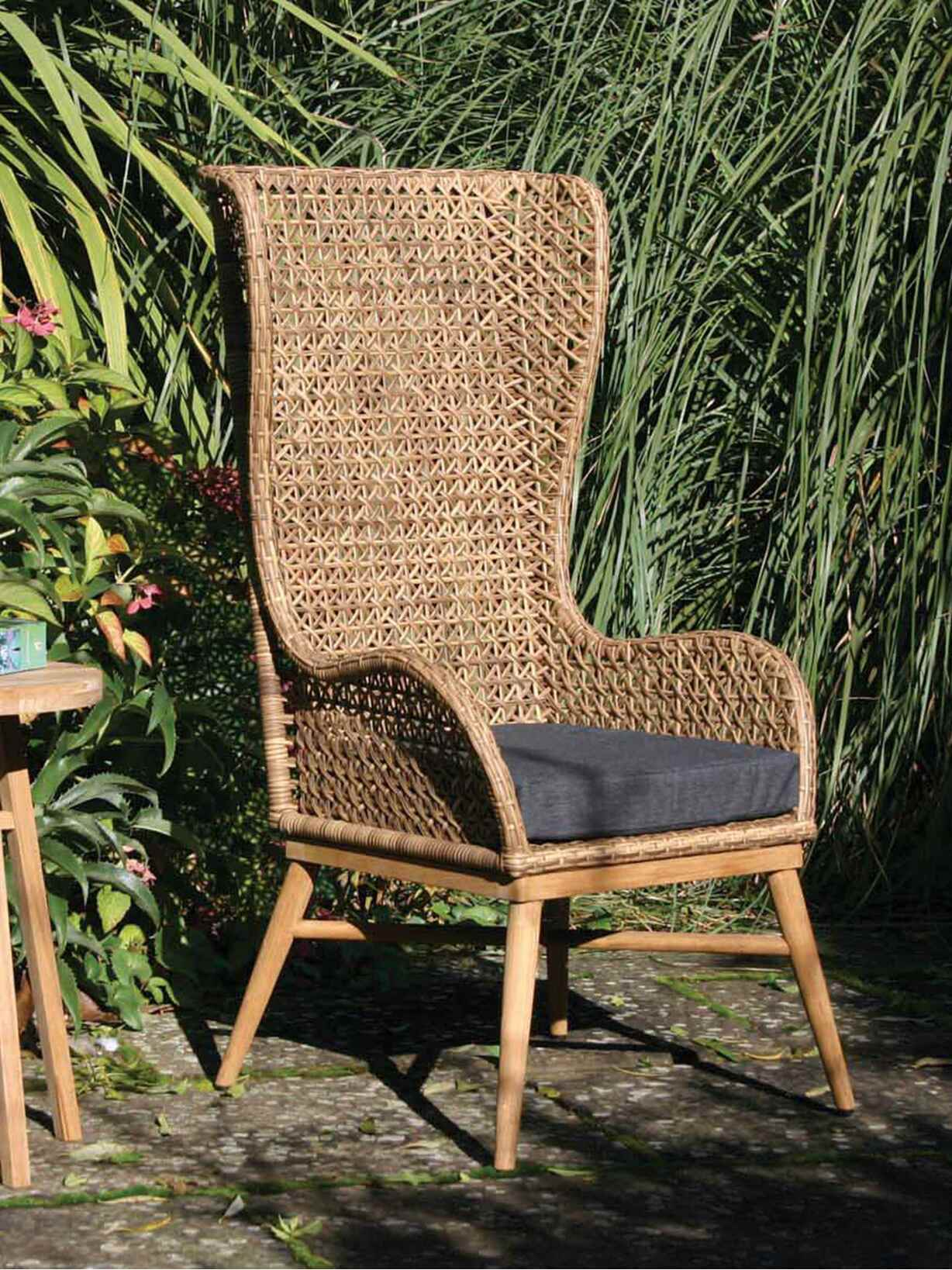 Nordic House Indoor/Outdoor High Back Chair