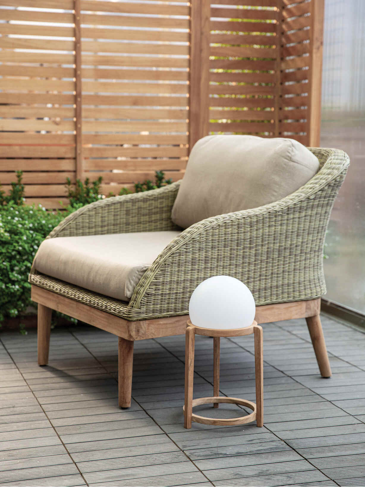 Nordic House Sigrid Outdoor Furniture - Natural Taupe