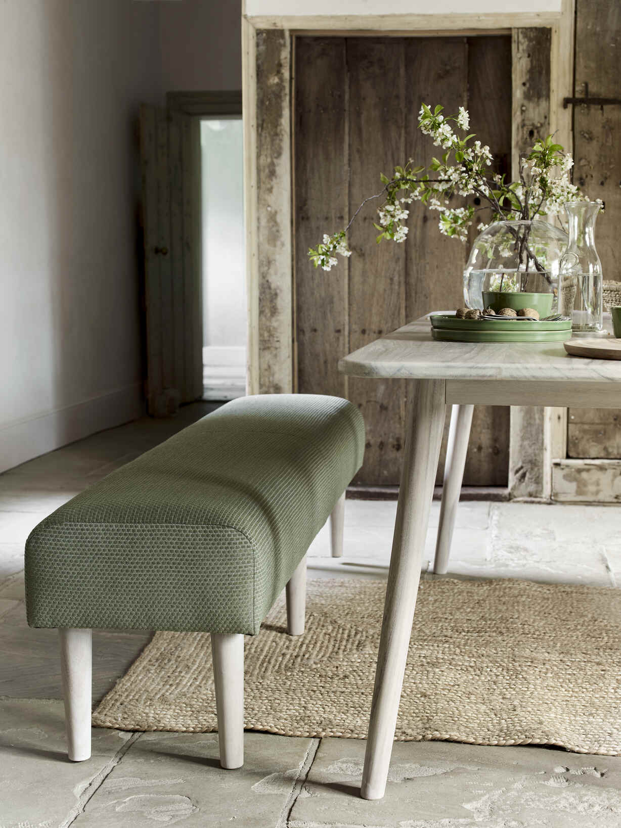 Nordic House Sundby Long Bench - Living Spaces