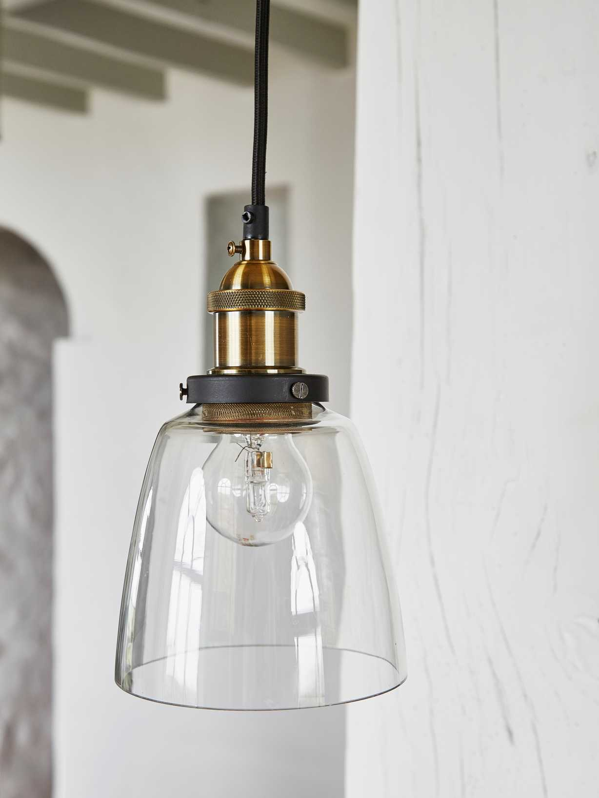 Nordic House Clear Glass Pendant
