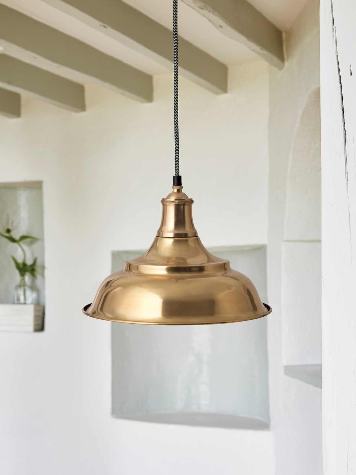 Nordic House Antique Brass Pendant