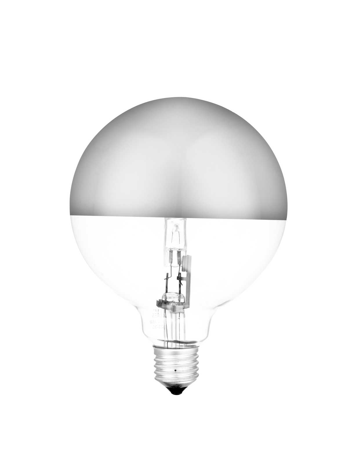 Nordic House Halogen Round Silver Base Light Bulb