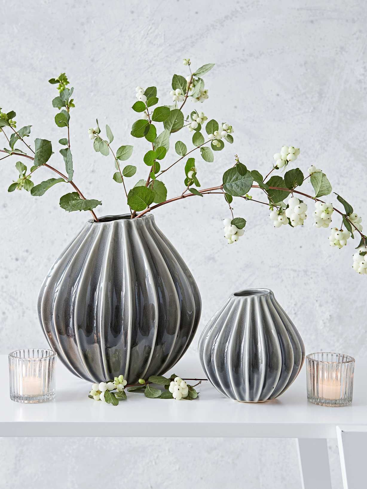 Nordic House Graceful Ceramic Vases