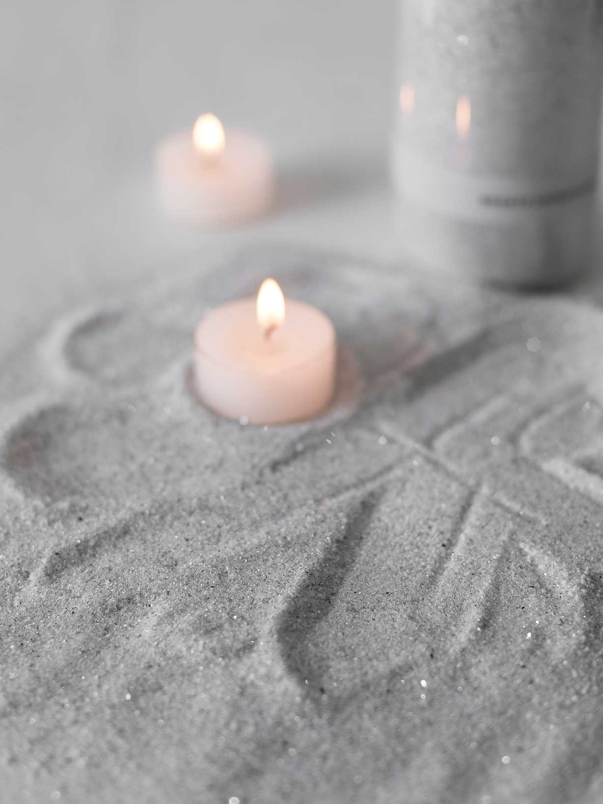 Nordic House Candle Sand - Linen Grey