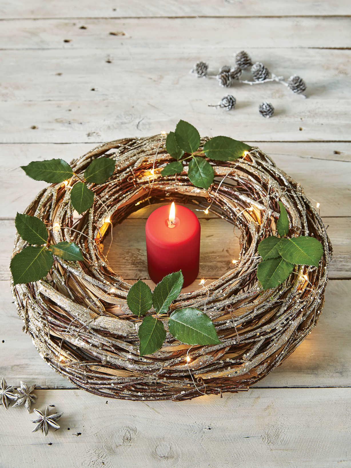 Nordic House Decorative Birch Wreath
