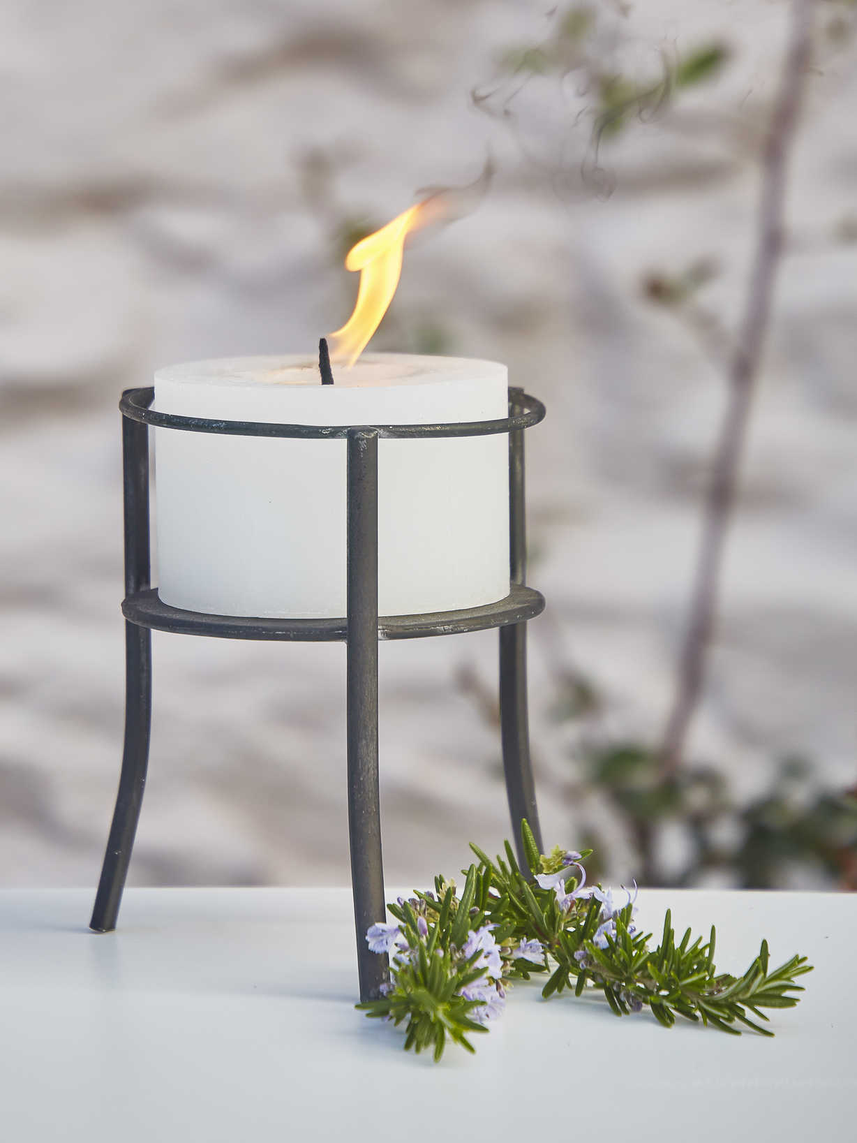 Nordic House Rustic Outdoor Candle Holder
