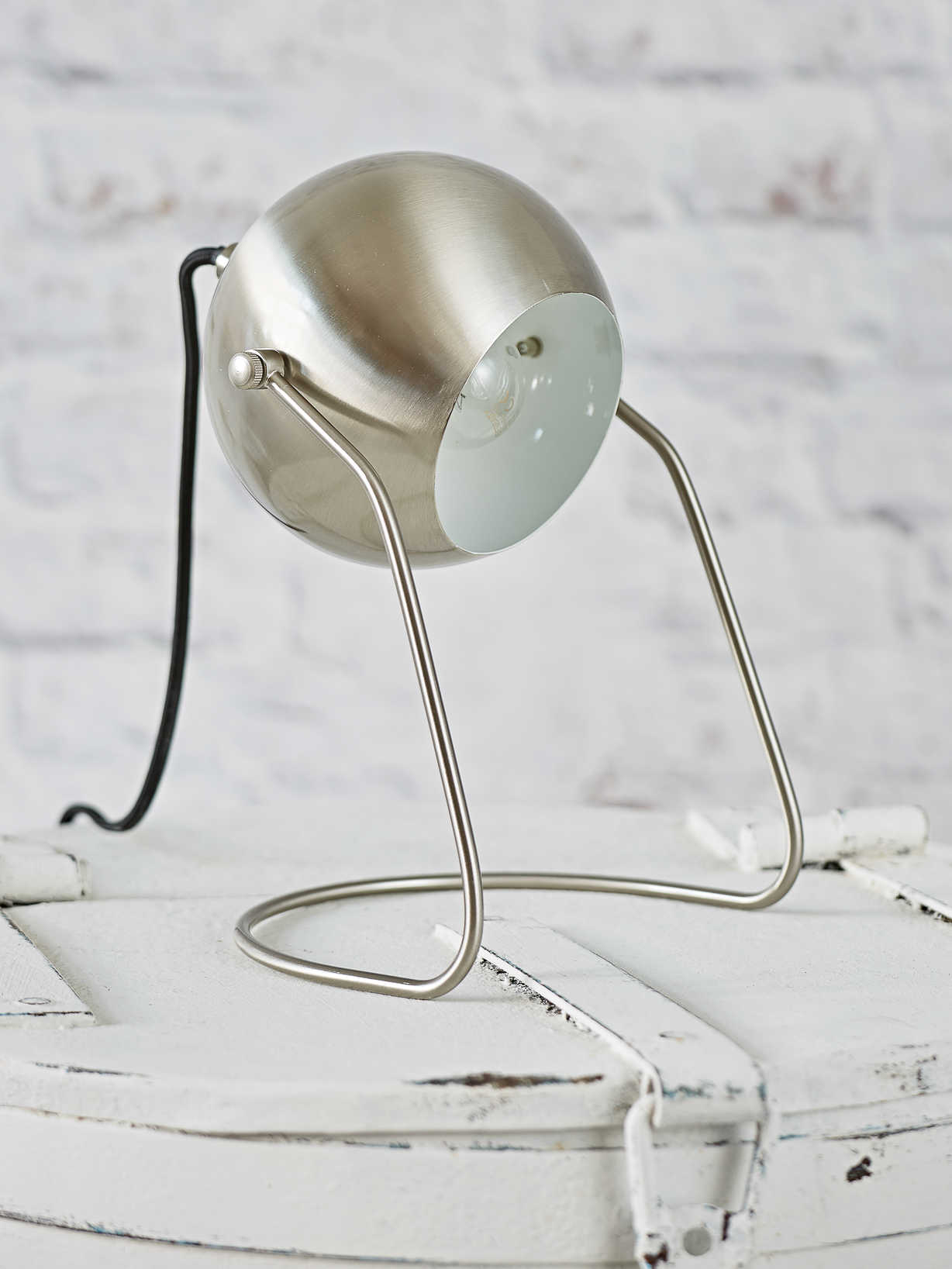 Nordic House Silver Table/Wall Lamp