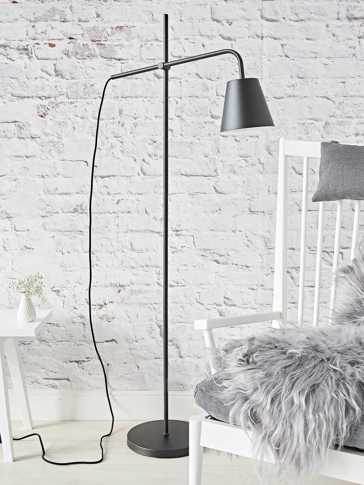 Nordic House Industrial Black Floor Lamp