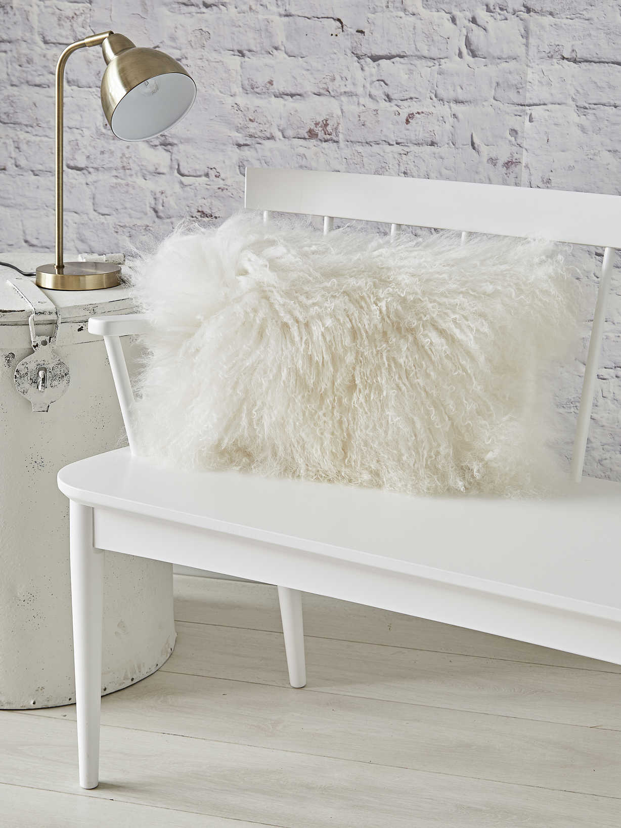 Nordic House Luxurious Tibetan Sheepskin Cushion