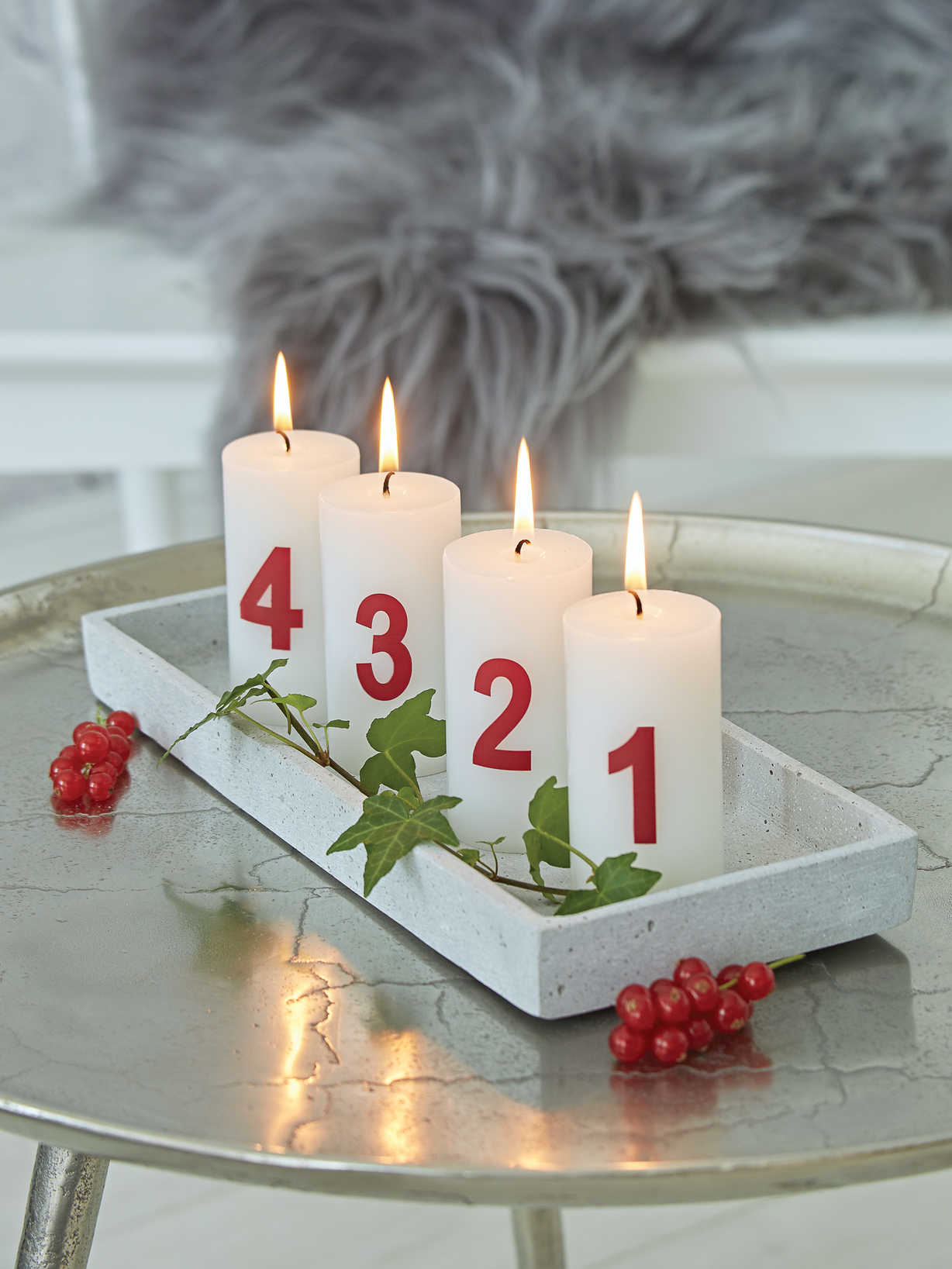 Nordic House Advent Candle Set