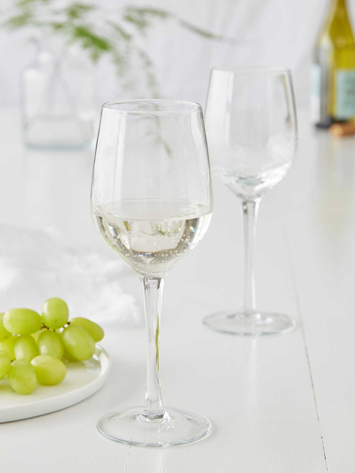 Nordic House Bubble Wine Glasses - White