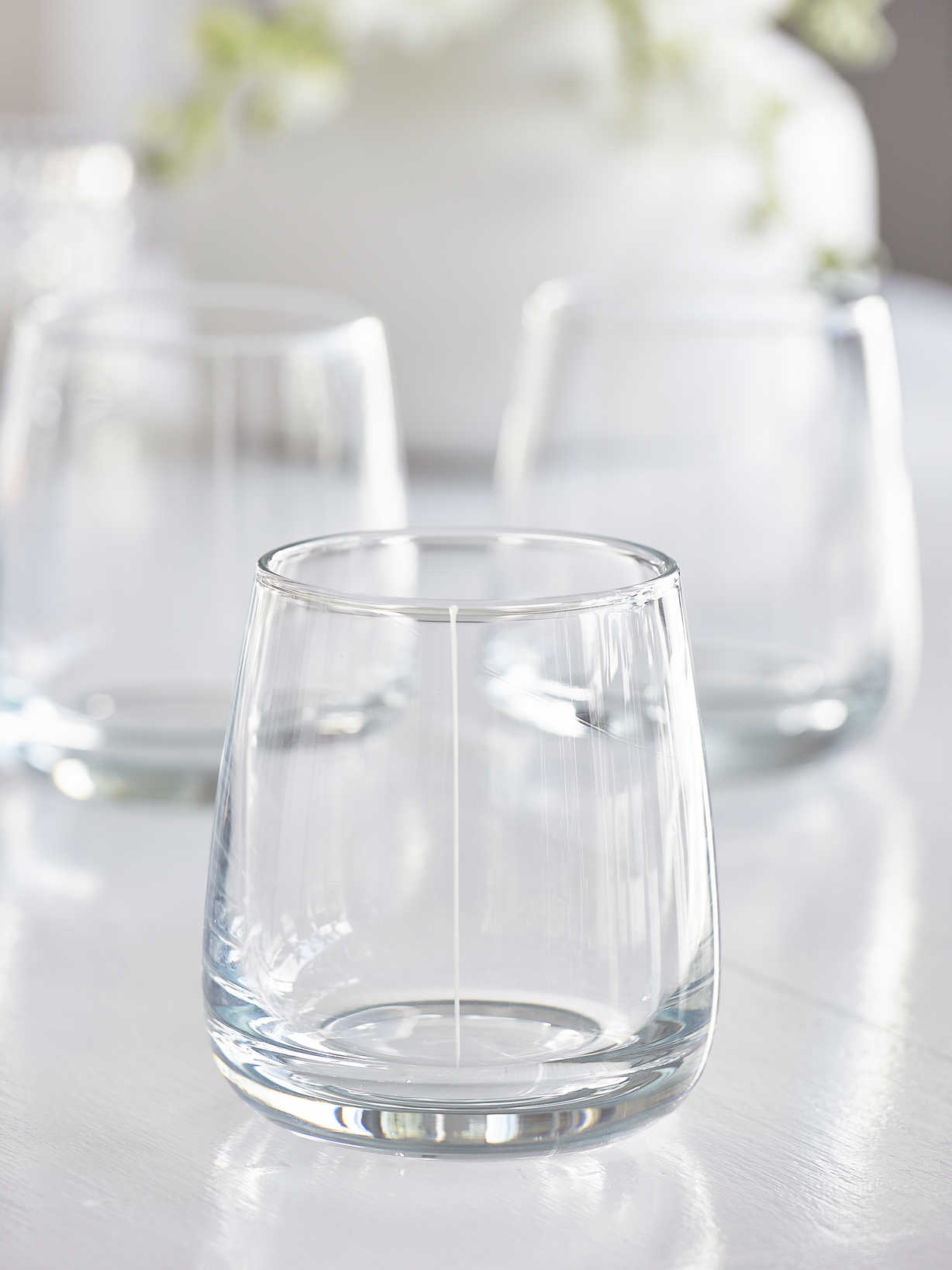 Nordic House Elegant Etched Glass Tumblers