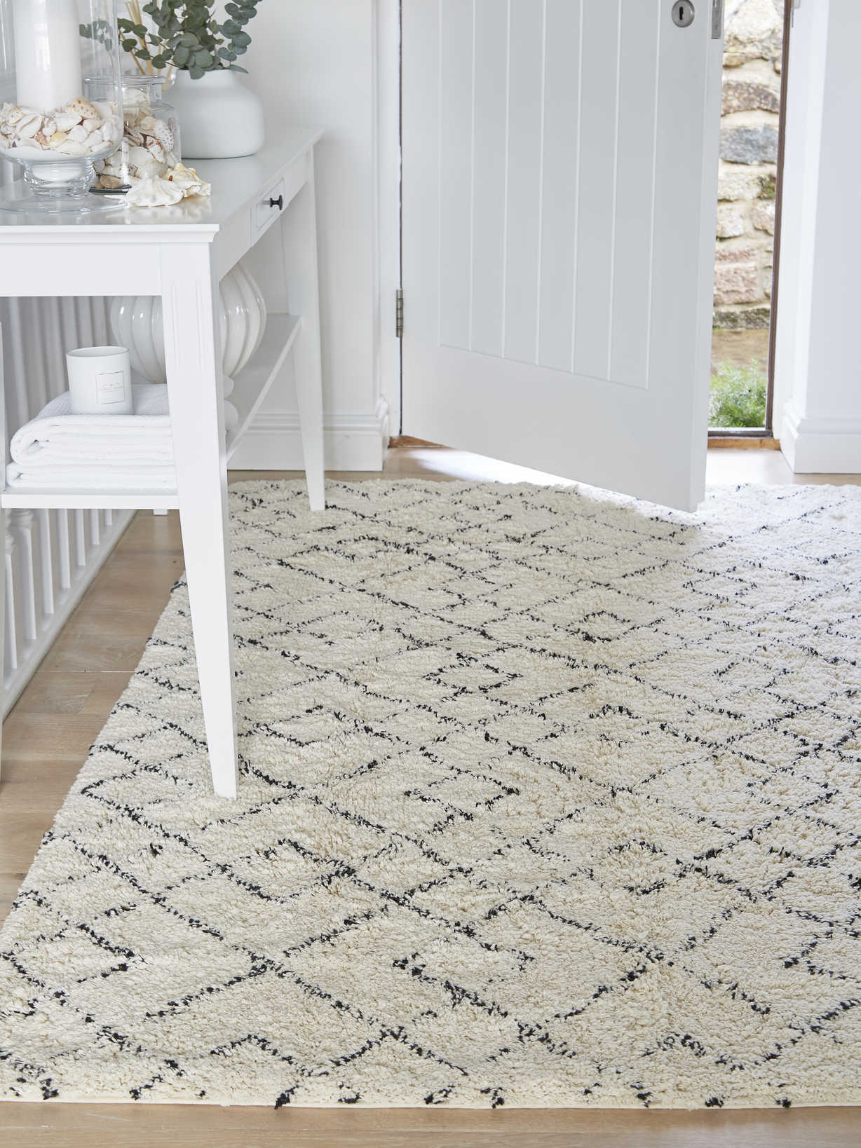 Nordic House Abstract Diamond Rug
