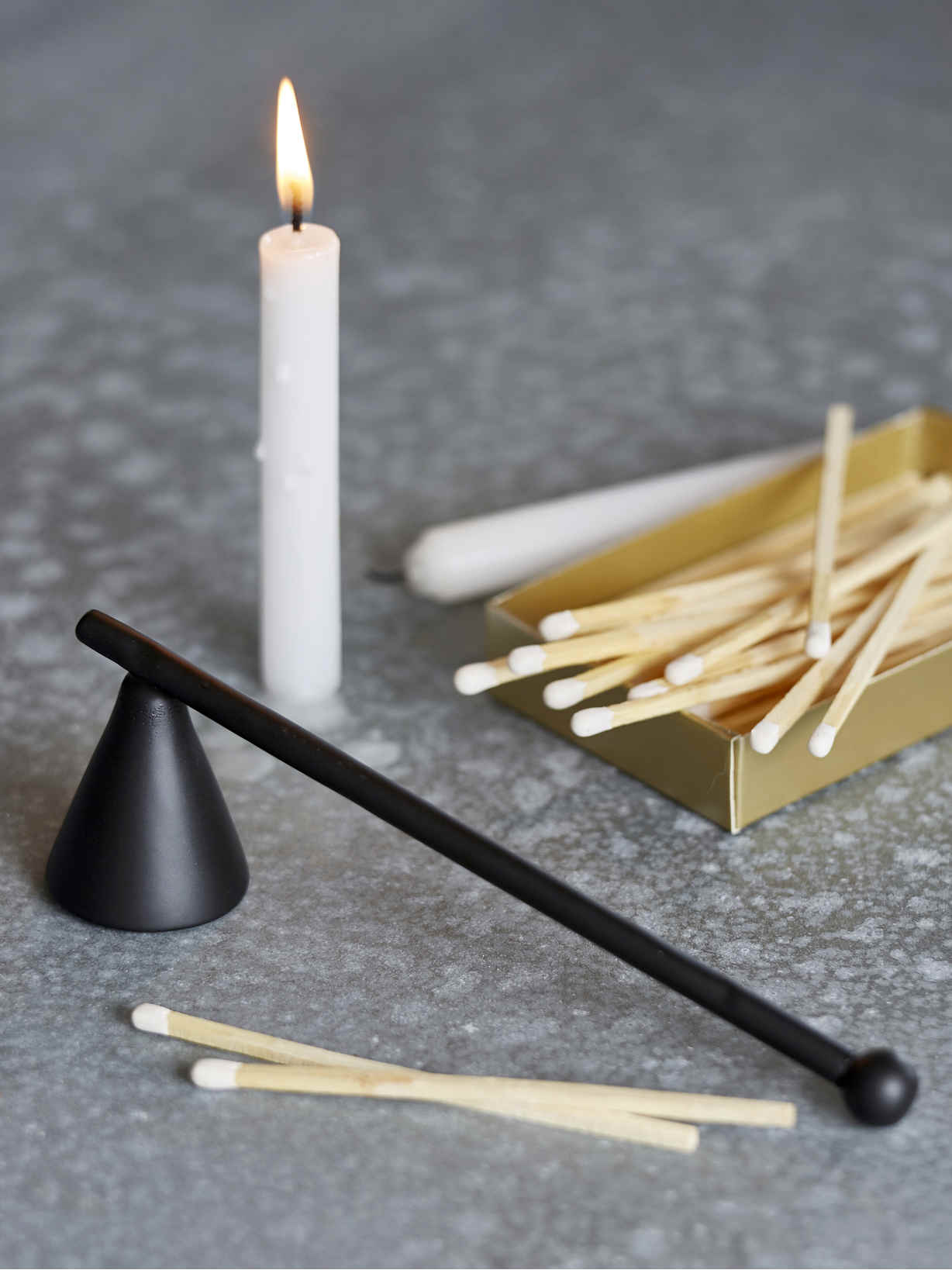 Nordic House Black Candle Snuffer