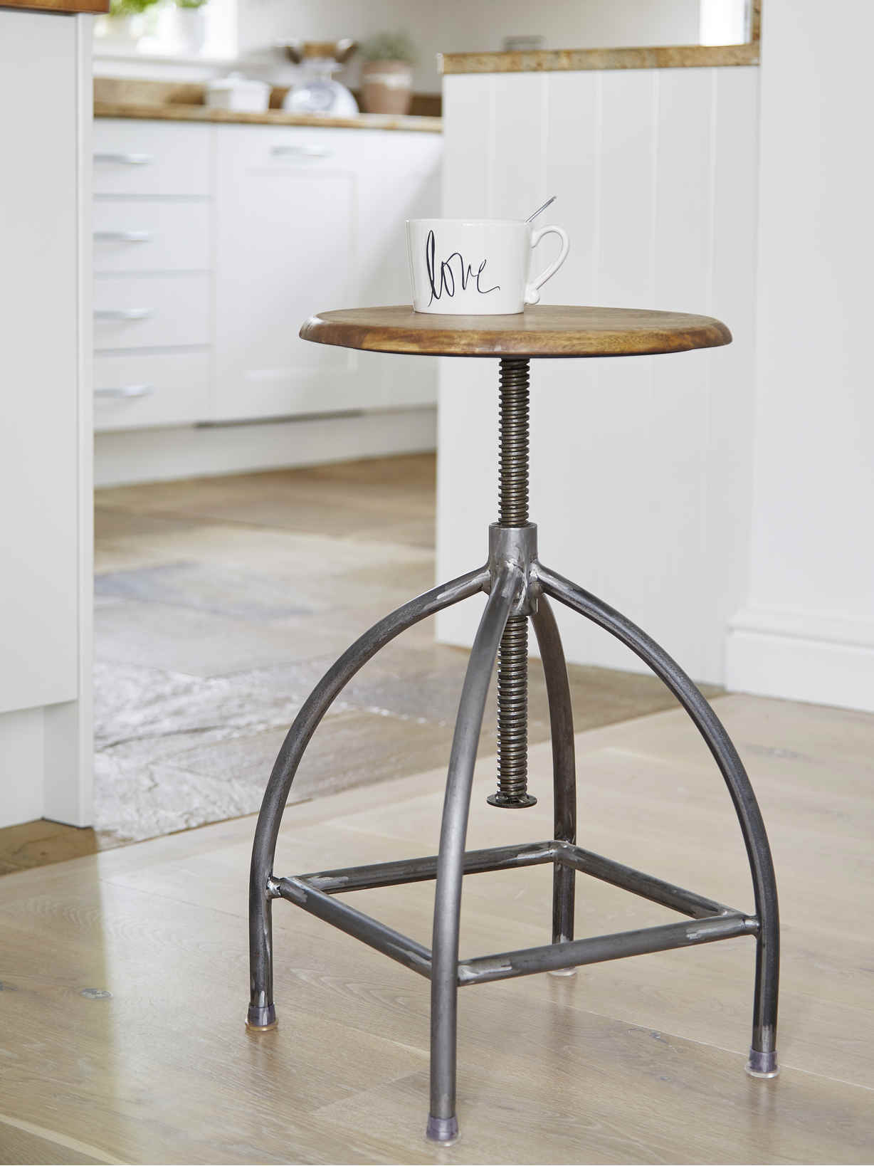 Nordic House Industrial Swivel Stool