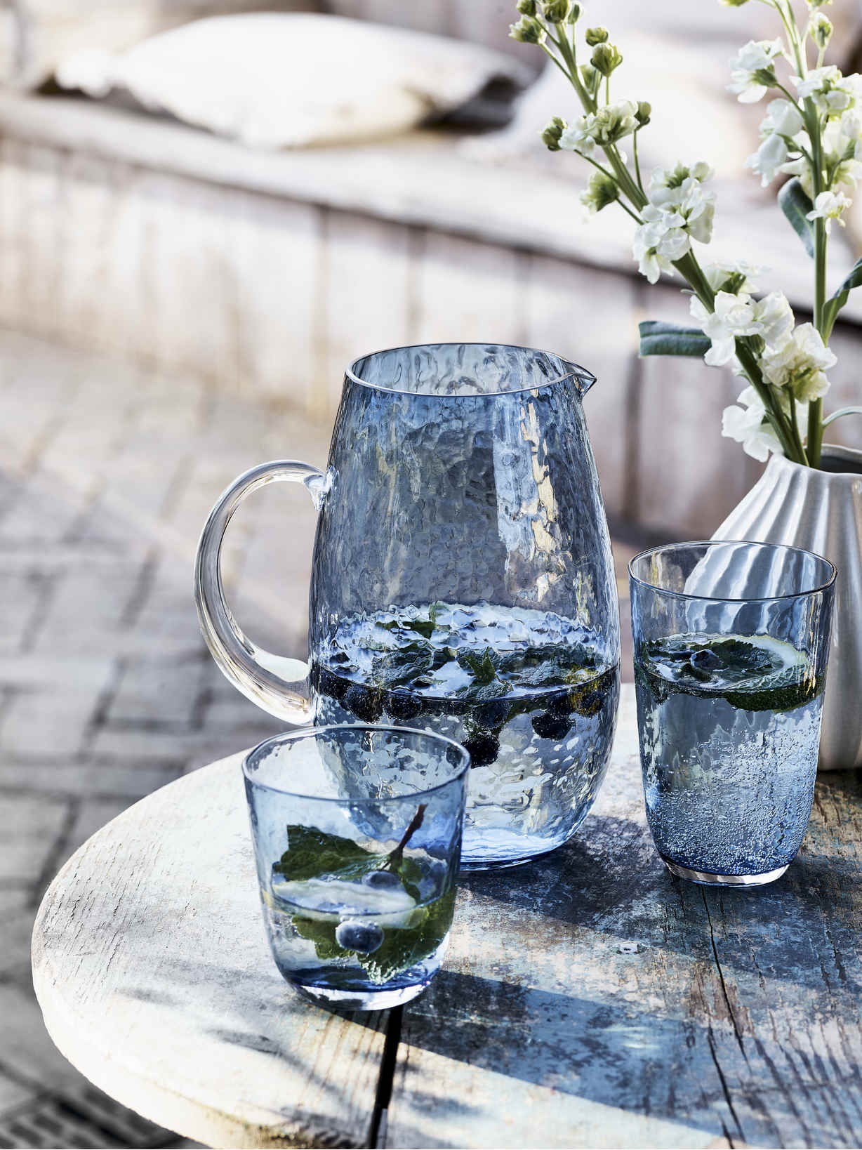 Nordic House Blue Breeze Glassware