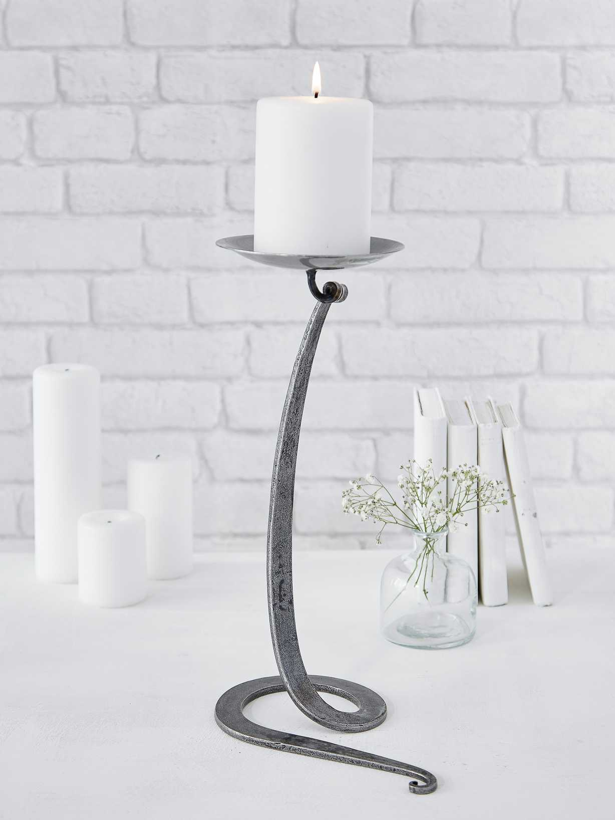 Nordic House Artisan Candle Holder - Swirl Base