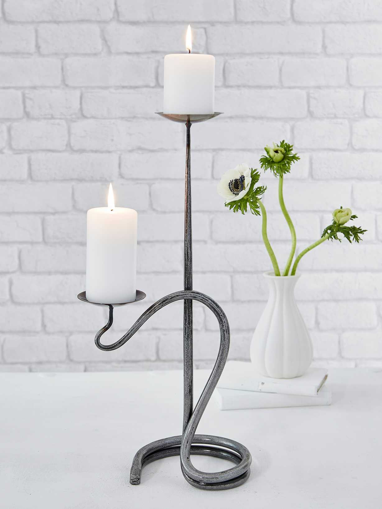 Nordic House Artisan Double Candle Holder