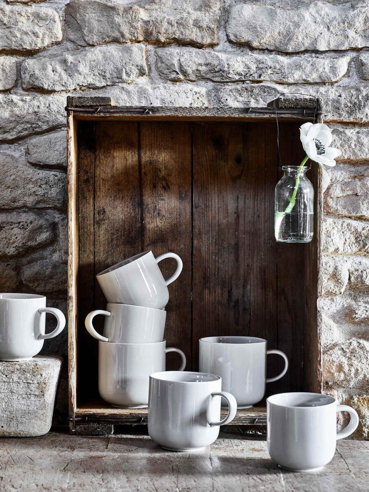Nordic House Artisan Grey Mugs