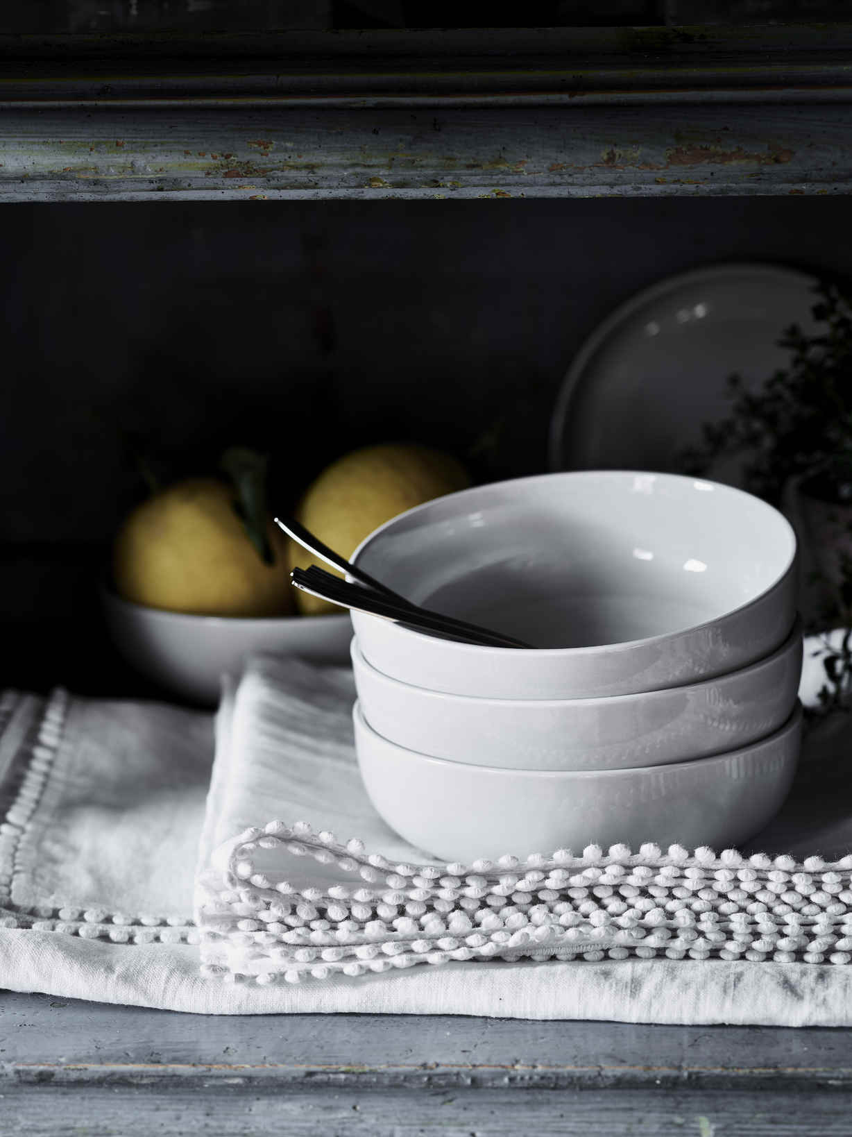 Nordic House Artisan Grey Bowl