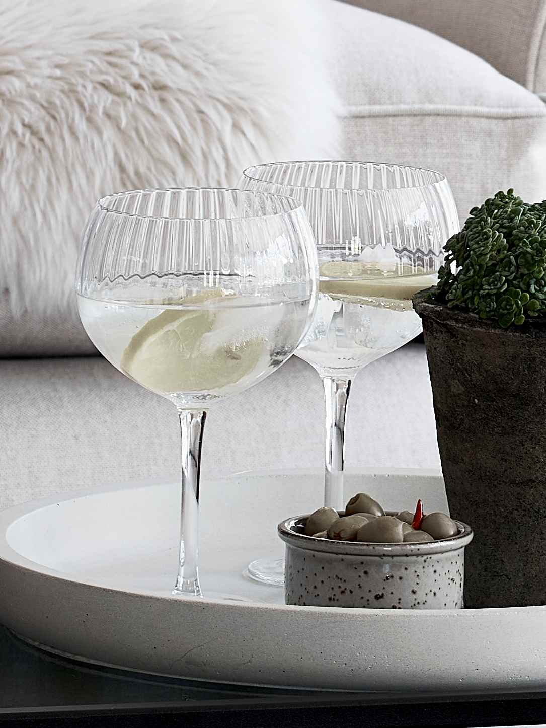 Nordic House Vita Gin Glass