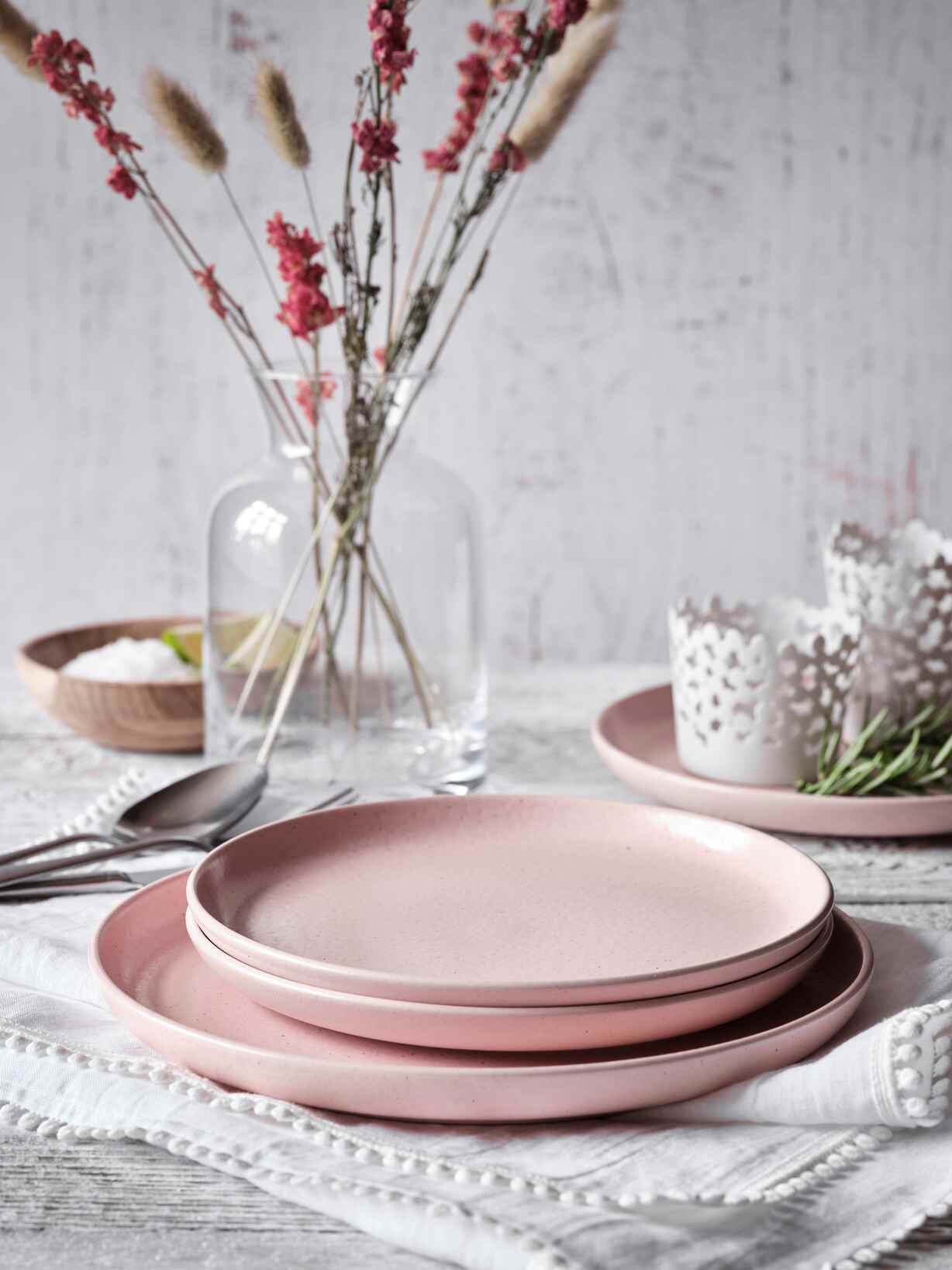 Nordic House Blossom Pink Plates