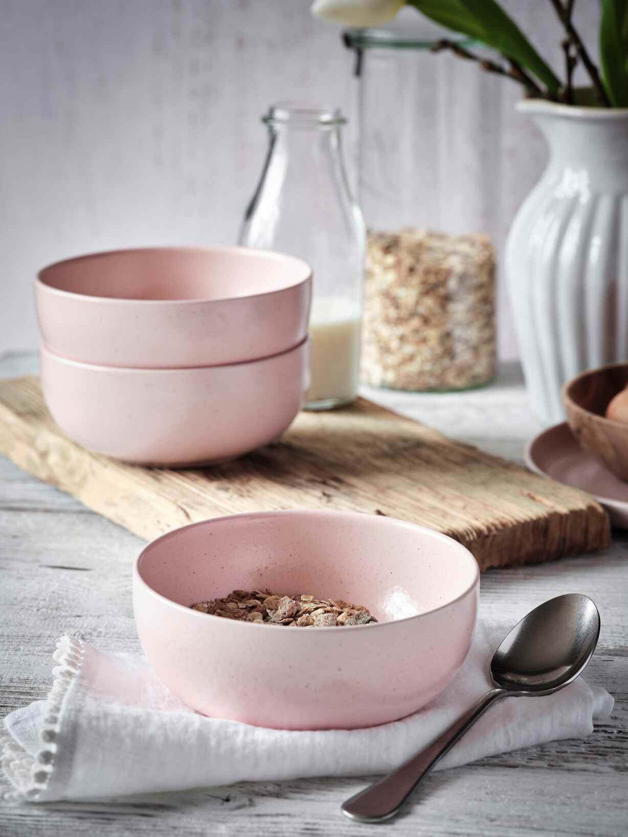 Nordic House Blossom Pink Cereal Bowl