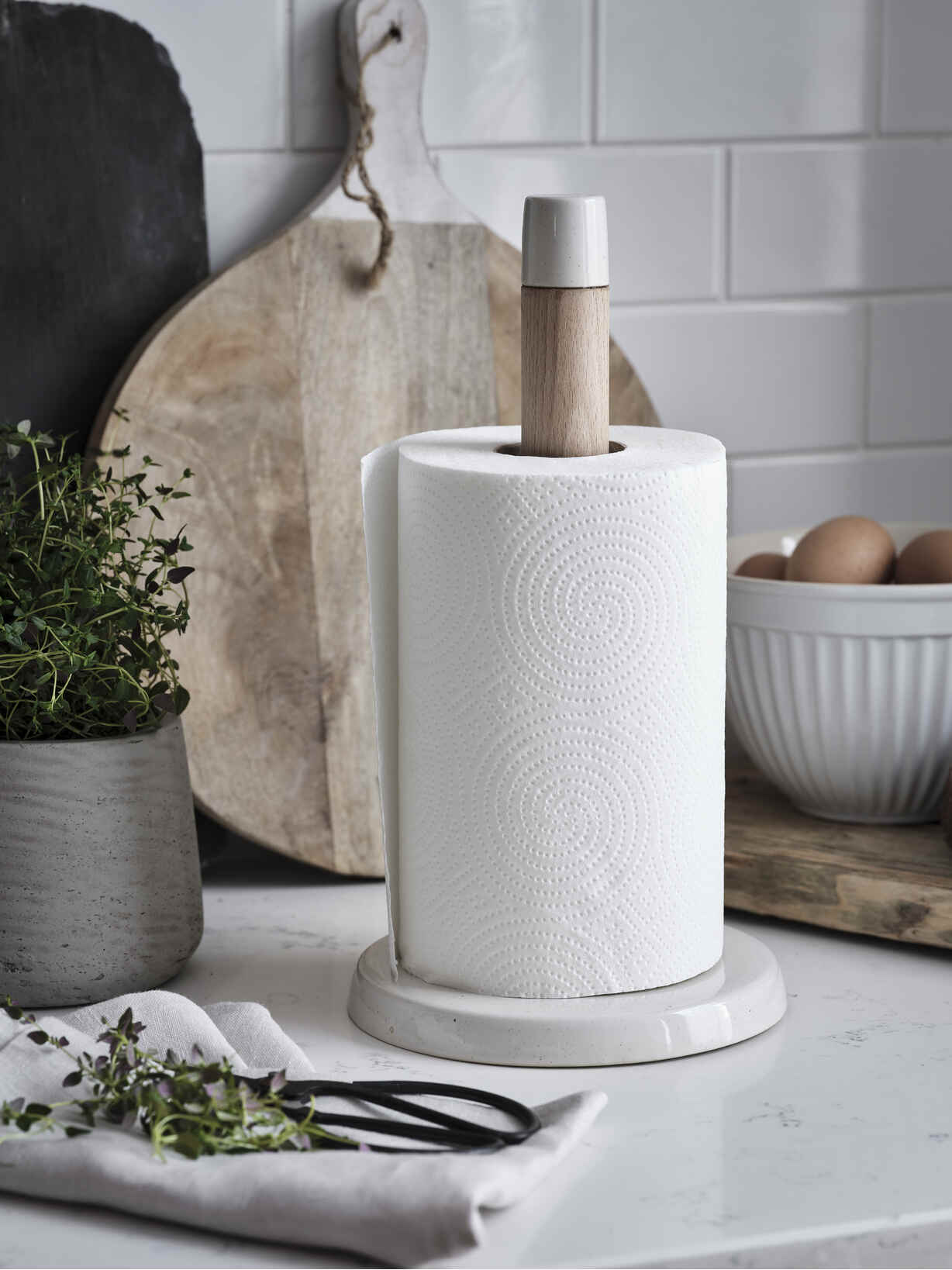Nordic House Stoneware Paper Towel Holder