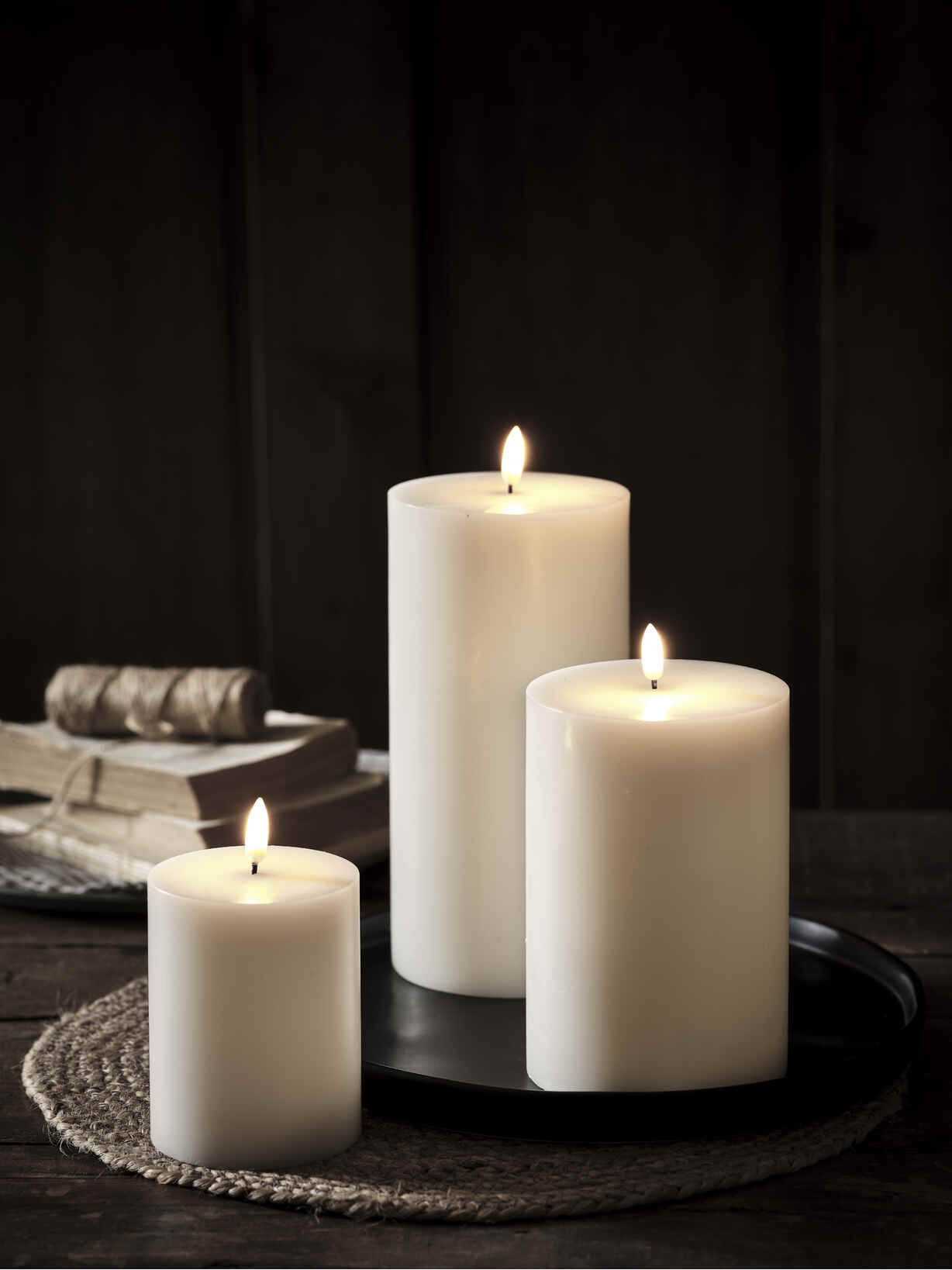 Nordic House Exquisite White LED Candles