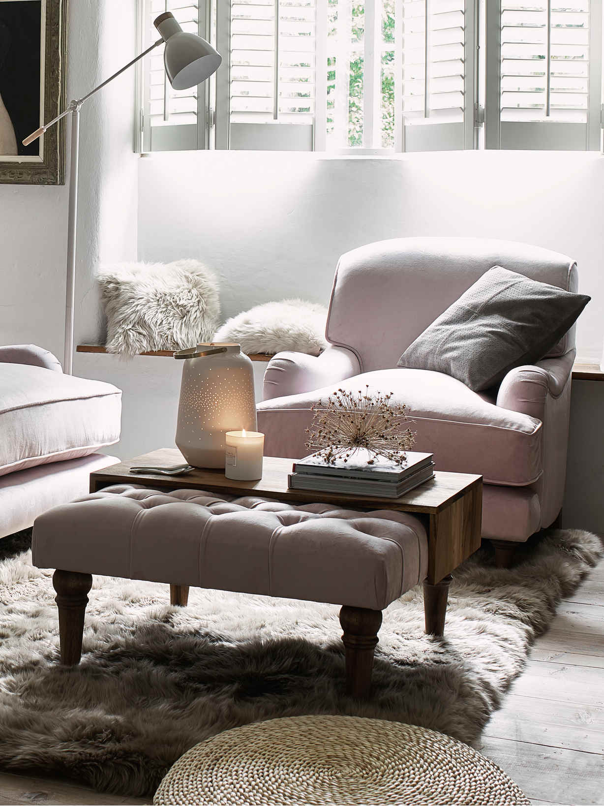 Nordic House Allegra Furniture - Chiffon Pink