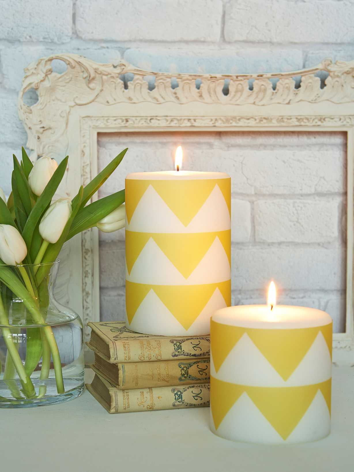 Nordic House Geometric Pillar Candle
