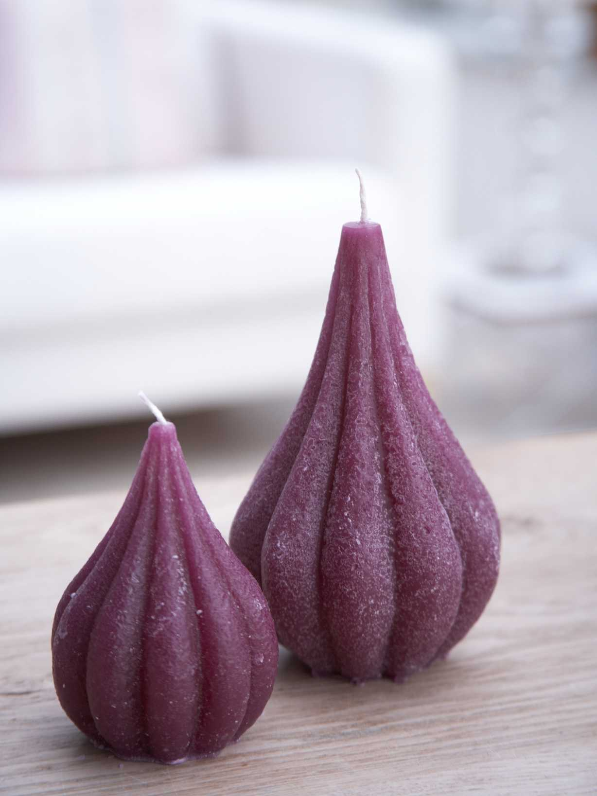 Nordic House Deep Purple Onion Candles