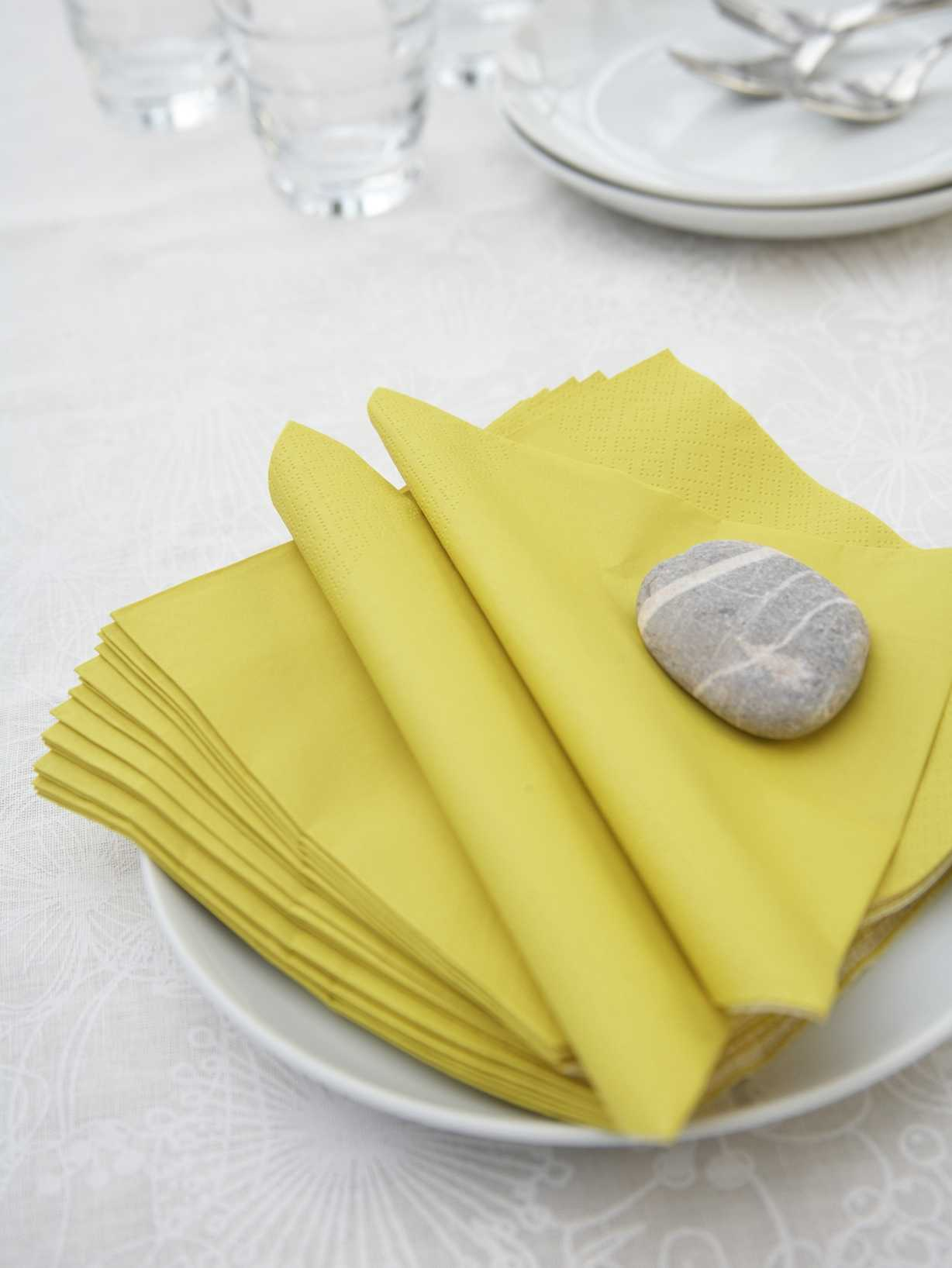 Nordic House Yellow Paper Napkins