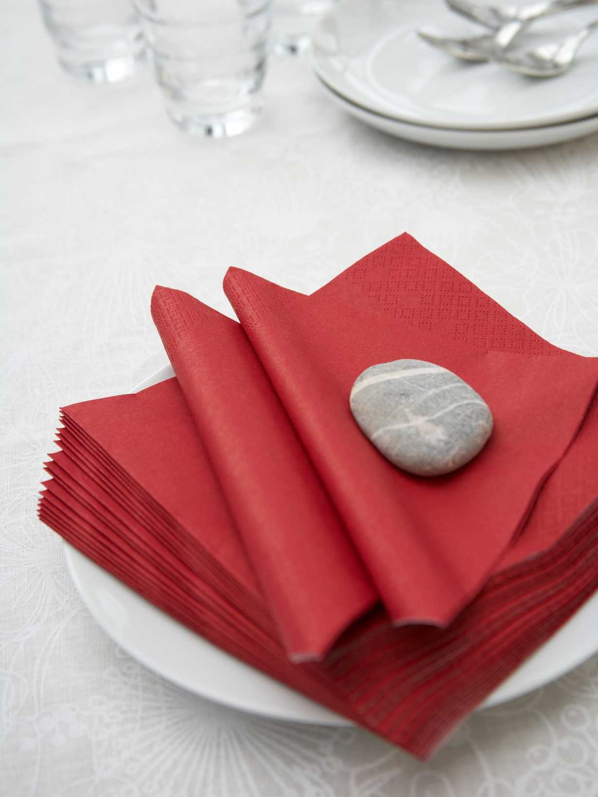 Nordic House Truly Red Paper Napkins