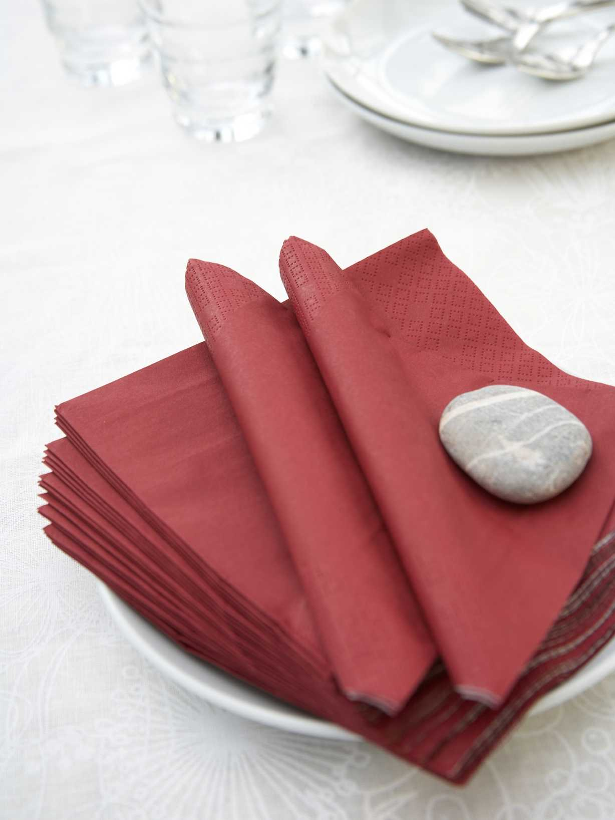 Nordic House Burgundy Paper Napkins