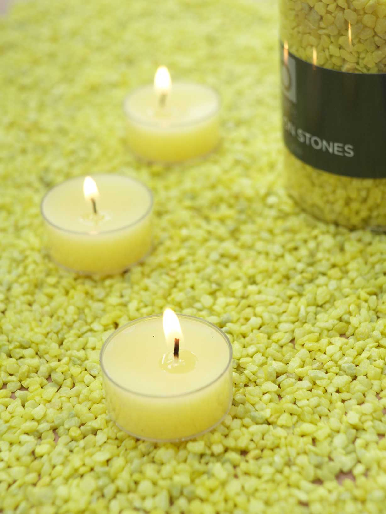 Nordic House Yellow Candle Gravel