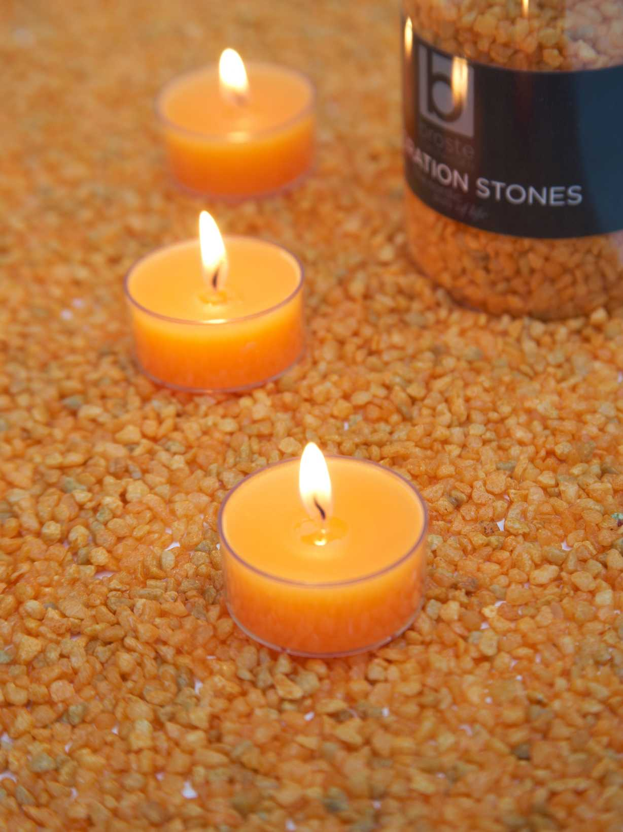 Nordic House Orange Candle Gravel