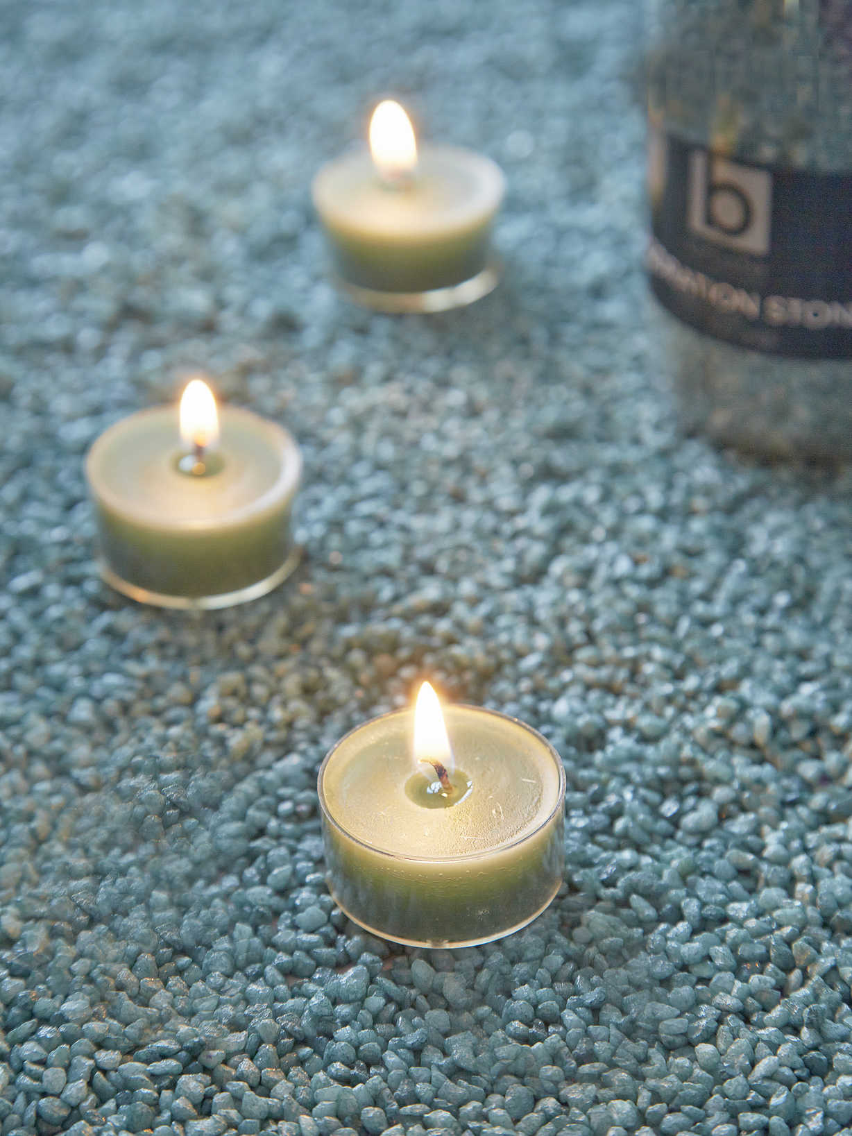 Nordic House Sea Green Candle Gravel