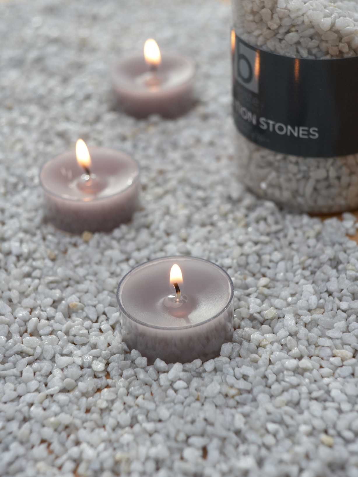 Nordic House Dove Grey Candle Gravel
